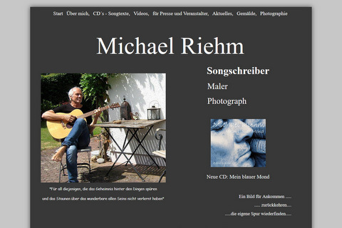 Liedermacher Michael Riehm